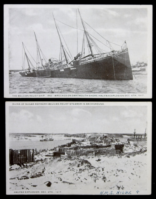 American Express Checkout >> 1917 four photo postcards of aftermath of Halifax ...