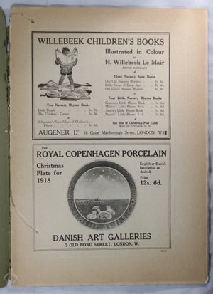 1918 London UK 'The Studio' art magazine