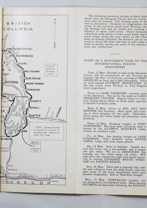 1918 auto tourism brochure of International Pacific Northwest