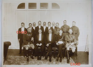 1920s French photo of US Ambassador Herrick and his staff by Manuel