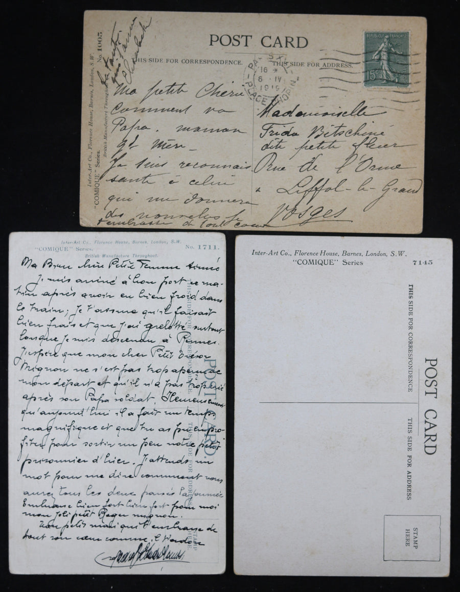 @1920s set of 6 postcards /  lot de six CPA