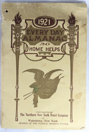 1921 'Every Day Almanac and Home Helps' NY Trust