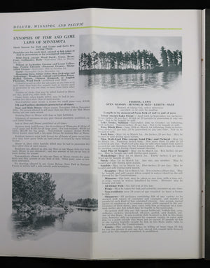 1921 Pamphlet CNR Duluth Winnipeg & Pacific Railway - Lake Vermillion MN