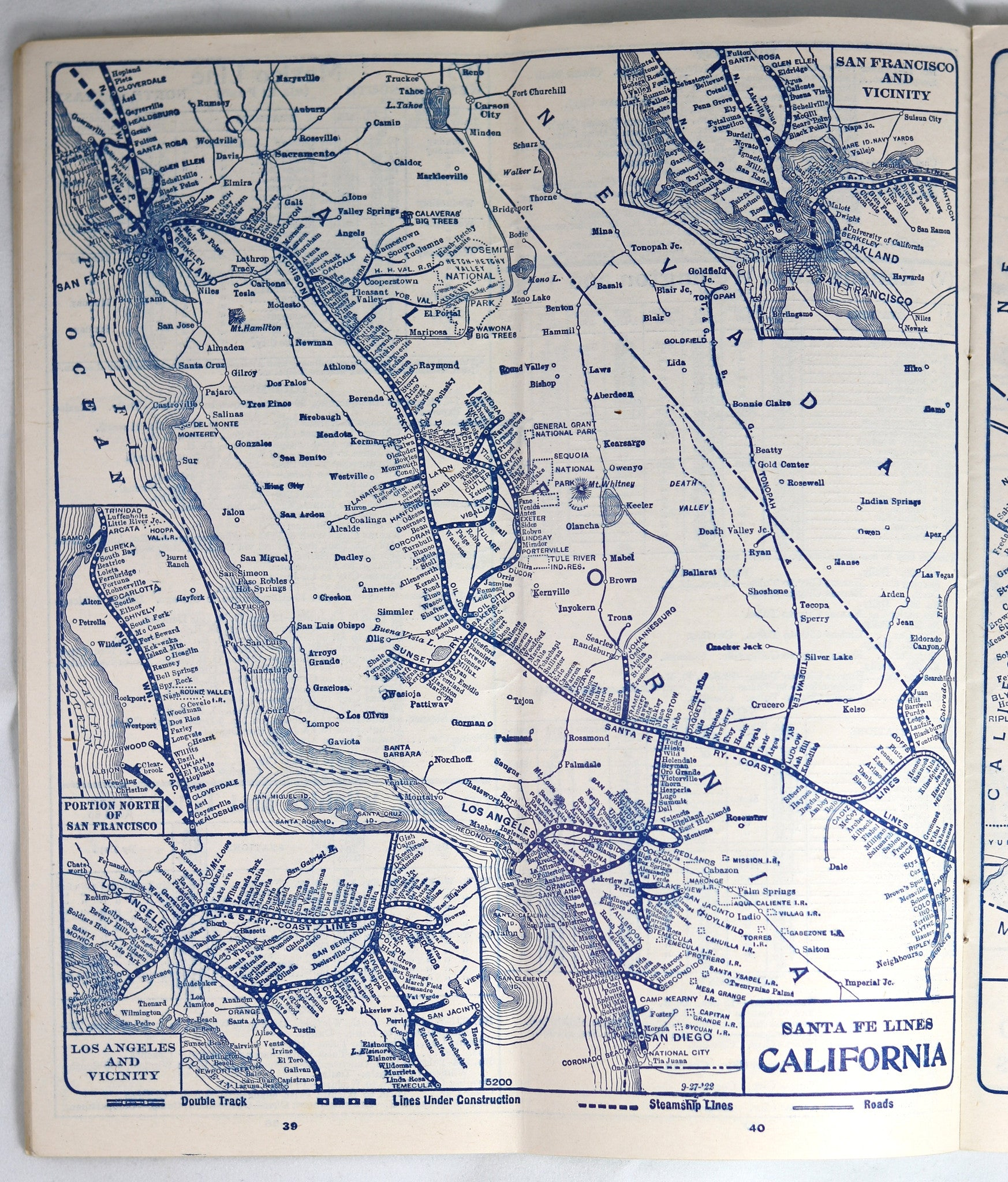 The AtchisonTopeka Santa Fe Railway System Time Tables - Atchinson topeka and santa ferailroad on the us map