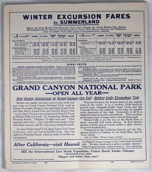 1922 The Atchison,Topeka & Santa Fe Railway System Time Tables