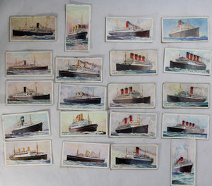 1924 Imperial Tobacco C20 'Merchant Ships of the World' cards