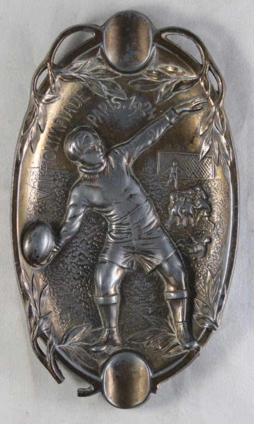 1924 Paris Olympics – Rugby, commemorative brass ashtray (cendrier)
