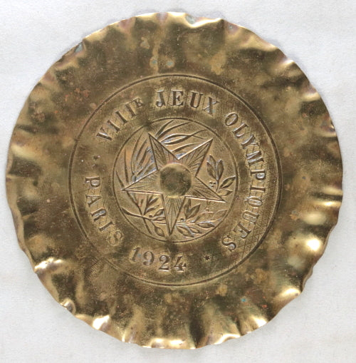 1924 Paris Olympics brass ashtray (cendrier en laiton)
