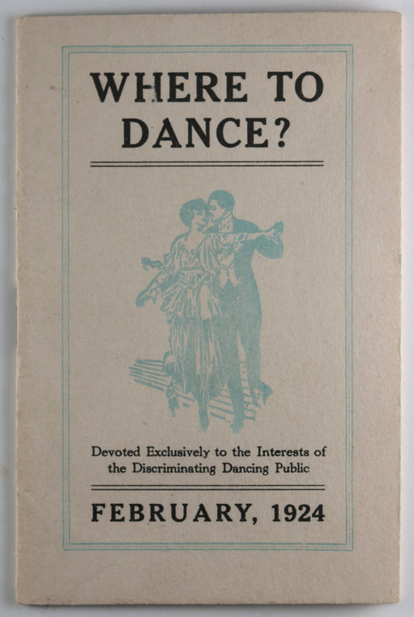 1924 pamphlet 'Where to Dance' Philadelphia PA