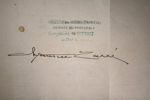 1927 consular appointment signed by Secretary of State Kellogg