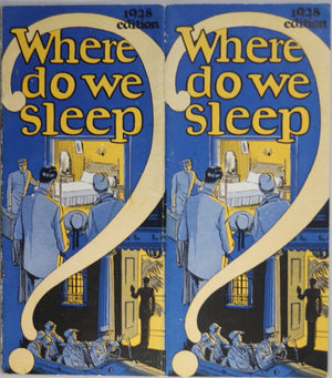 1928 Bell Canada 'Where do we sleep' travel brochure