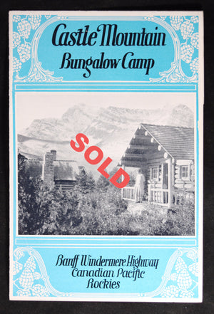 1928 advertising pamphlet CPR Castle Mountain Bungalow Camp #2