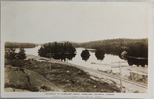 1930 postcard photo of Temagami Lakes Ontario Canada