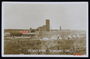 @1930s RPPC photo postcard Frood Mine Sudbury Canada