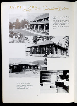 1932 CNR advertising pamphlet Jasper Park Lodge and area (AB)
