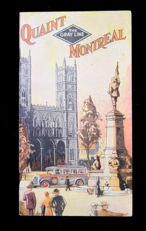 1932 Montreal PQ tour brochure from The Gray Line