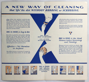 1932 advertising pamphlet DIC-A-DOO Paint Cleaner (Canada)
