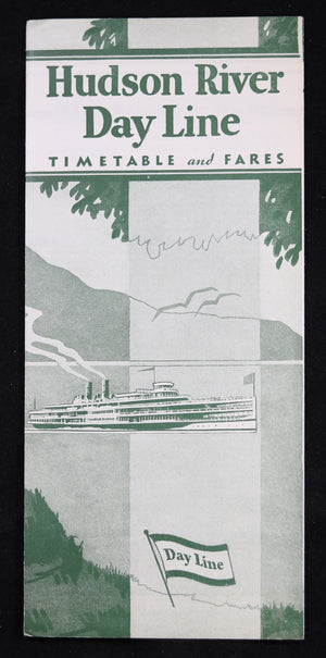 1933 Hudson River Day Line – Timetable and Fares (NYC)
