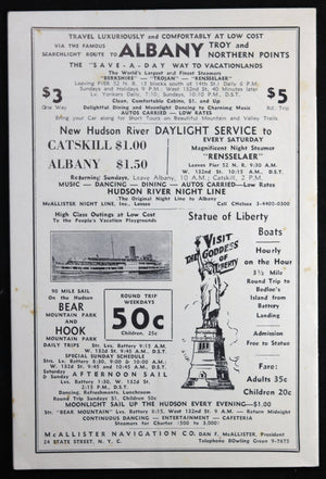 1933 NYC Roxy Theatre Programme Review pamphlet