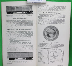 1934 Baltimore and Ohio Railroad pamphlet for World's Fair Chicago