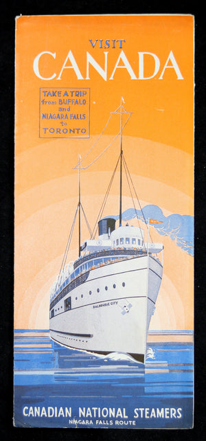 1934 Canadian National Steamers (Lake Ontario) - Timetable and Fares