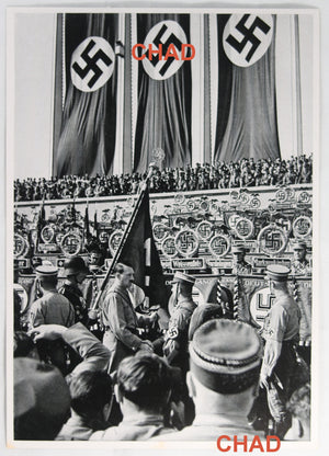 1934 German propaganda photo Nuremberg Rally - Consecration