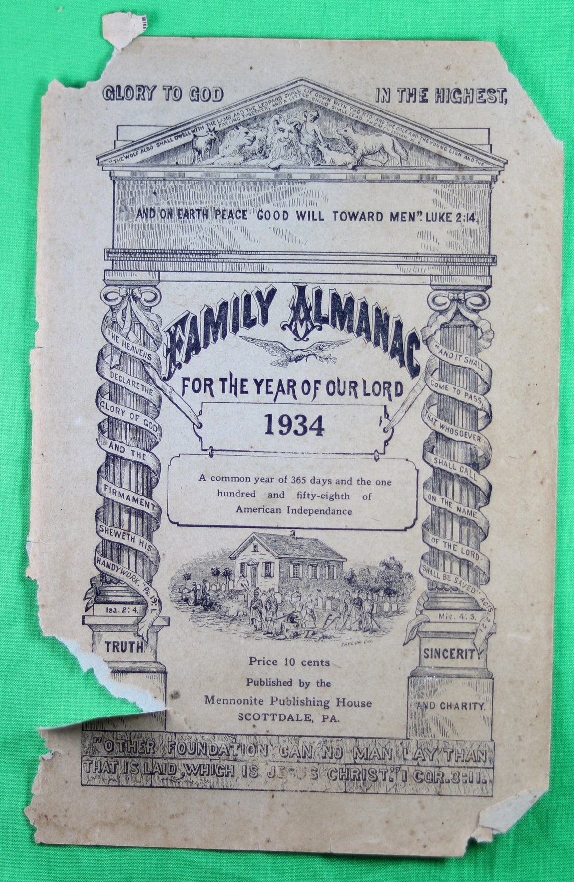 1934 Mennonite Family Almanac