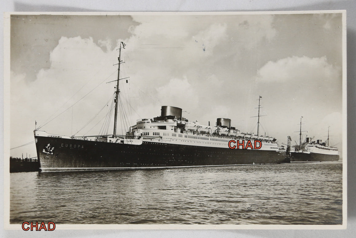 1934 PPC with SS Europa Bremen-New York on-board cancellation