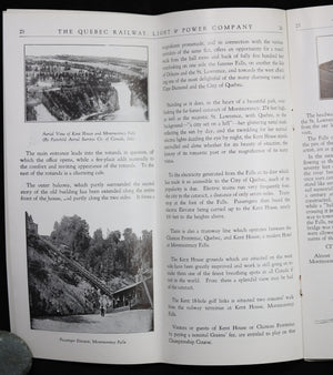 @1934 Tourism brochure from The Gray Line Quebec, Montmorency Falls and St Anne de Beaupré