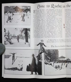 @1934 Tourism brochure from The Gray Line: Quebec, Montmorency Falls and St Anne de Beaupré