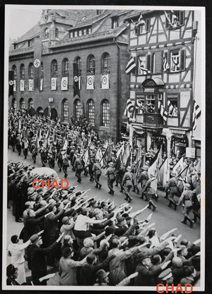 1935 photo of German military parade on Armed Forces Day