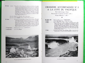 @1935 travel brochure for France to Canada & US, CNR branding.