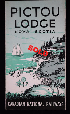 1936 Canadian National Railways (CNR) pamphlet - Pictou Lodge Nova Scotia
