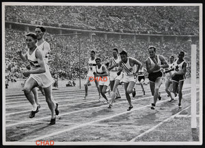 1936 Winter Olympics, photo 4 X 400m relay race