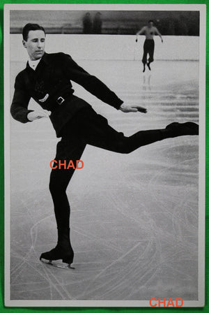1936 Winter Olympics, photo of Canadian figure skater Montgomery Wilson