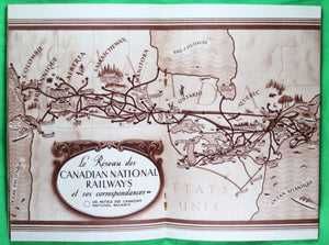 @1936 brochure 'De la Fenêtre du Wagon Canadian National Railways'