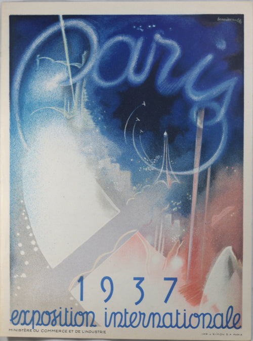 1937 affichette 'Exposition Internationale Paris'
