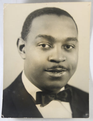 @1937(?) signed photo of jazz great Benny Carter