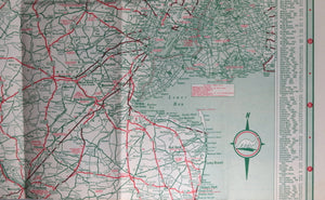1940 New Jersey road map and tourism guide from Sinclair Gasoline ...