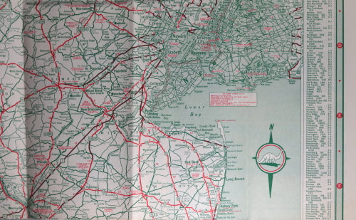 1940 New Jersey road map and tourism guide from Sinclair Gasoline