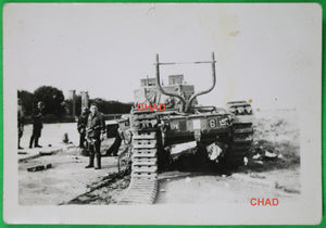 1942 WW2 photo abandoned Canadian Churchill tank on beach at Dieppe #2