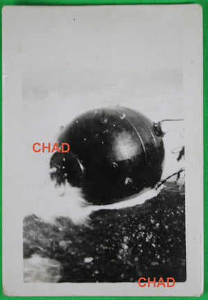 1942 WW2 photo of German naval mine at Dieppe