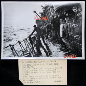 1943 propaganda photo German destroyer in gulf of Finland