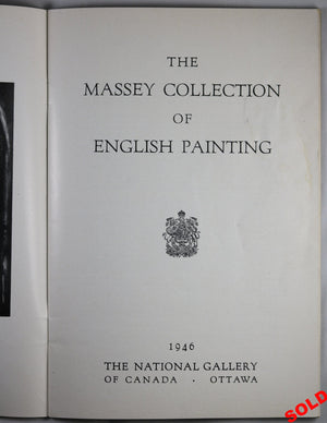 1946 catalog for National Gallery (Ottawa) Massey Collection exhibition