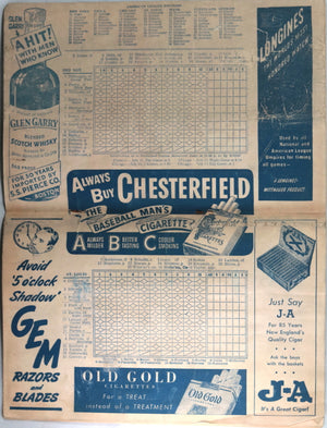 1948 Boston Red Sox official baseball program (playoff year)
