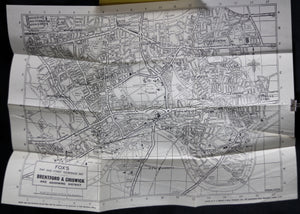 @1950 Fox's map of Brentford & Chiswick (London-Hounslow) UK