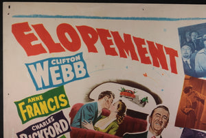 1951 USA movie title lobby card comedy 'Elopement'