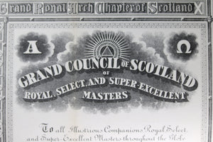 1952 Freemason Supreme Grand Royal Arch Chapter of Scotland