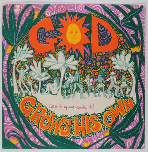 1967 Mari Tepper San Francisco postcard 'God Grows his Own'