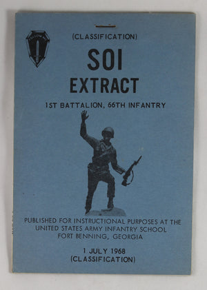 1968 US Army - SOI Extract 1st Battalion, 66th Infantry